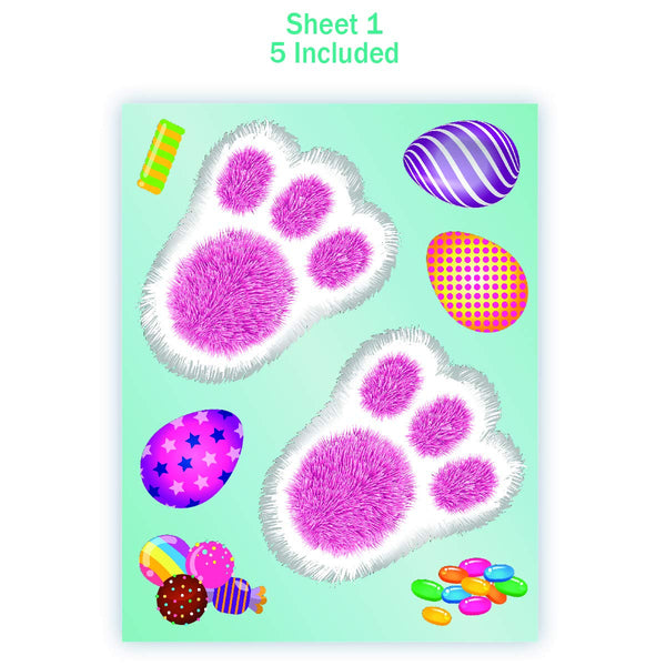 Bunny Footprints Kit – 80 Total Paw Print