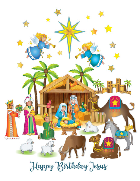 Nativity Window Clings