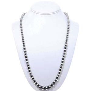 Desert Pearl Sterling Silver Bead Necklace