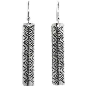 Diamonds II - Stamped Sterling Silver Dangle Earrings