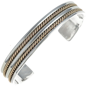 Sterling Silver & Gold Twist Cuff Bracelet