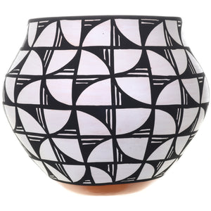 Acoma Pueblo Pottery Black White Patterns by Mary Antonio