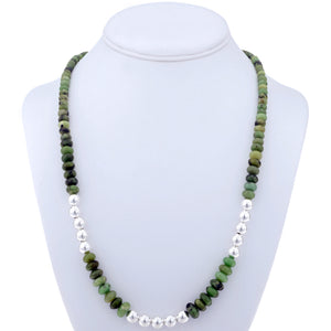 Sterling Silver & Ruby Zoisite Necklace