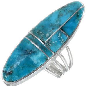 Turquoise & Sterling Silver Pointer Ladies Ring