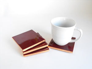 Garnet Mexican Tile Beverage Coasters
