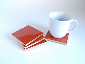 Terracotta Mexican Tile Beverage Coasters