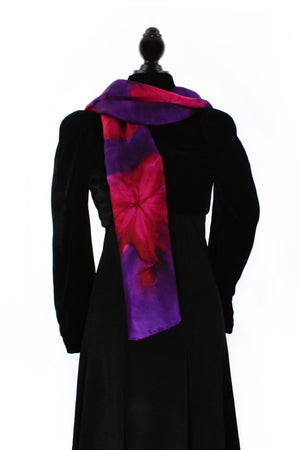Women's Silk Scarf - Violet Purple and Magenta