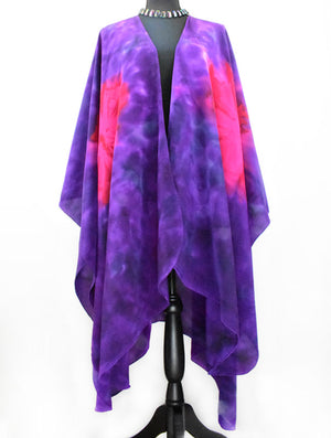 Women's Silk Wrap - Violet Purple and Magenta
