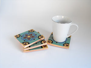 Precioso Mexican Tile Beverage Coasters
