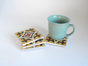 Santa Fe Mexican Tile Beverage Coasters