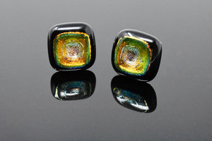 Green and Gold Artisan Cufflinks