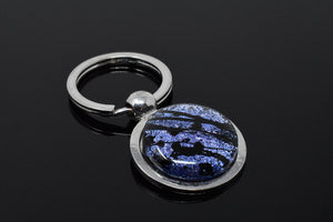 Blue / Black Splatter Key Ring