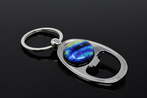 Blue / Gold Swirl Key Ring