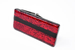 Red and Black Artisan Money Clip