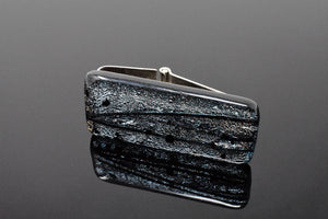 Silver and Black Artisan Money Clip