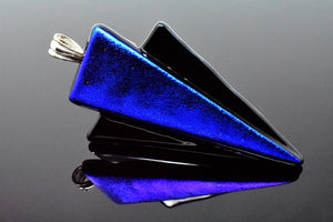 Royal Blue / Black Arrow Statement Pendant Necklace