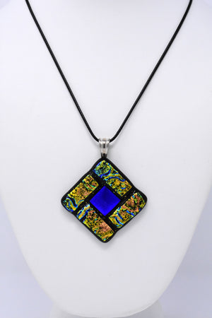 Blue / Gold / Multicolored Pendant Necklace