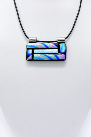 Multicolored Rectangle Large Pendant Necklace
