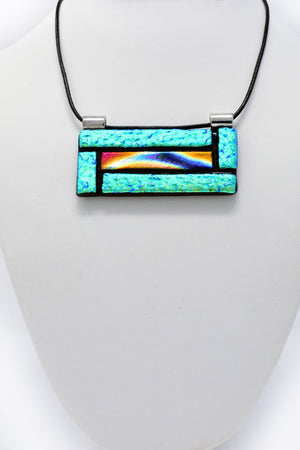 Multicolored Large Statement Pendant Necklace