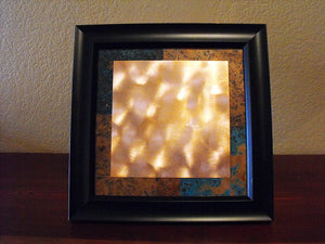Four Corners Framed Copper Wall Art