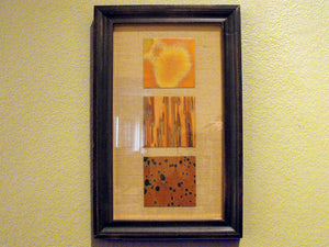 Rain Dance Framed Copper Wall Art