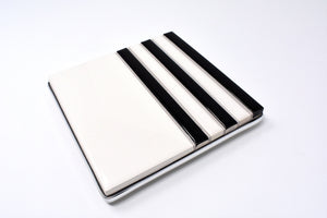 Classic Too Vintage Kitchen White and Black Trivet (hot pad)