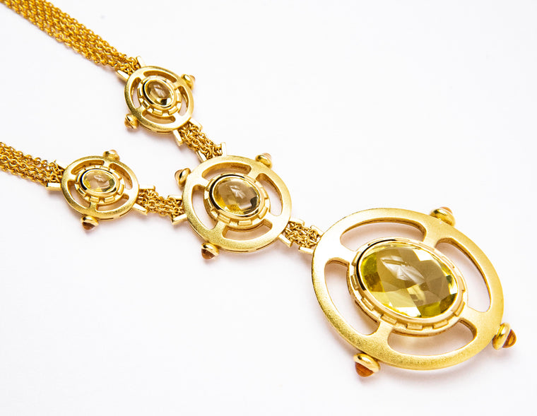 18kt Morelli Chrysoberyl Necklace