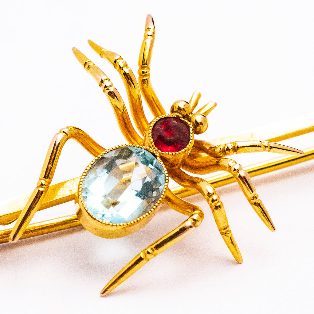 9ct Antique Spider Bar Pin