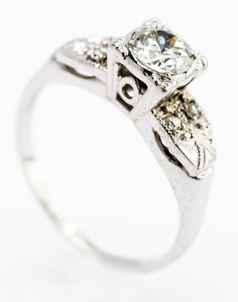 A Delicate Diamond Deco Engagement Ring Circa 1920