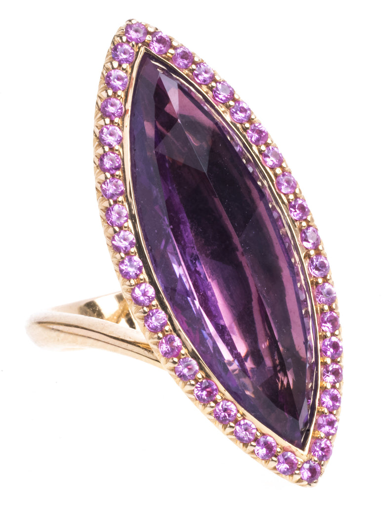An Outstanding Amethyst and Sapphire Ring by Christophe Danhier