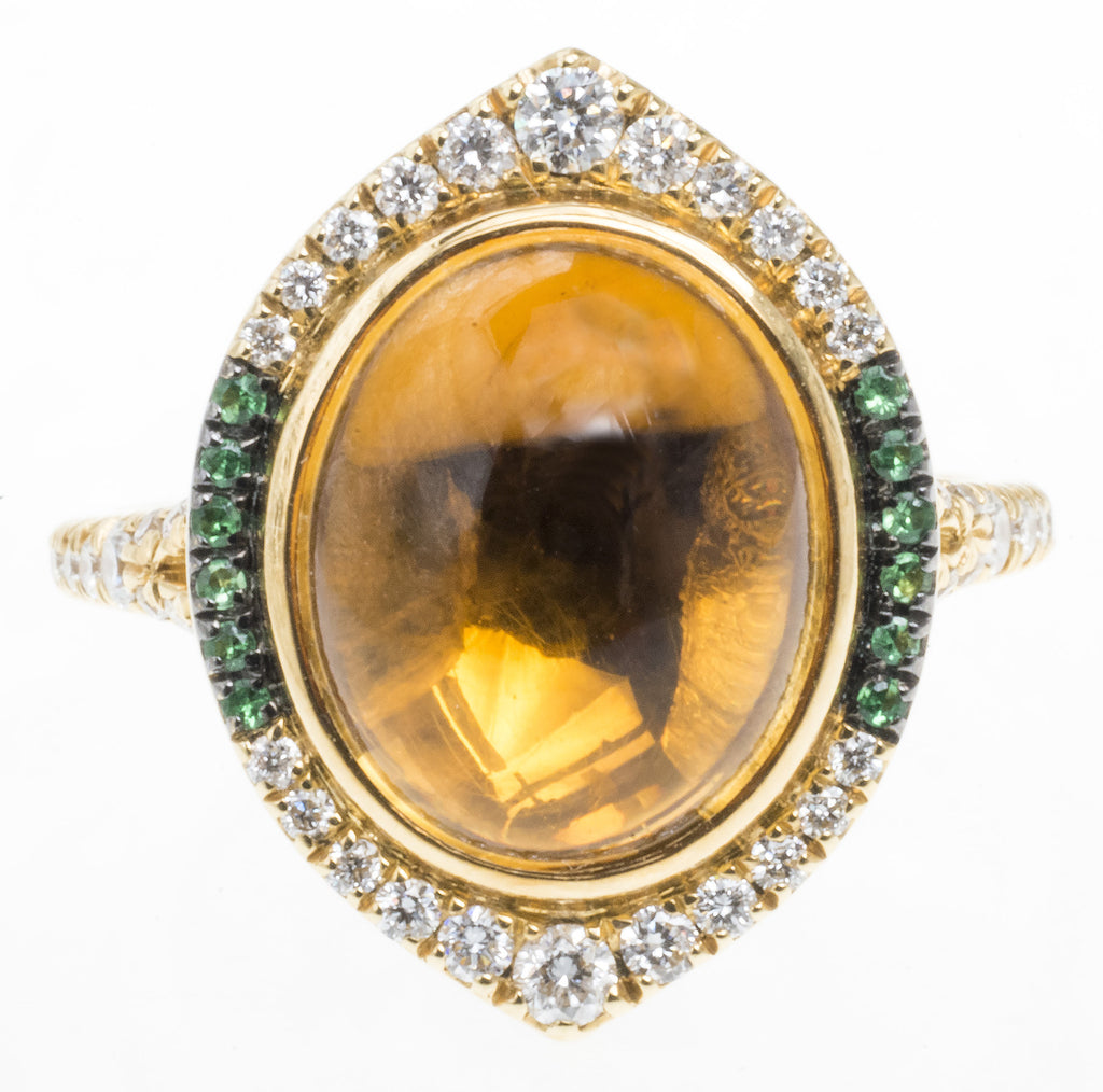 A Very Special Citrine and Diamond Ring by Christophe Danhier