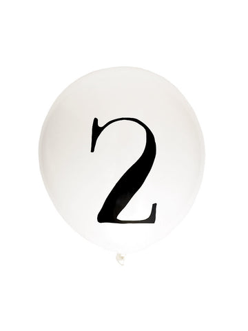 number balloons (serif) - Hip Hip Party Goods
