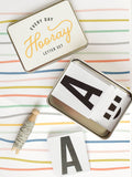 every day hooray metal letter set - Hip Hip Party Goods