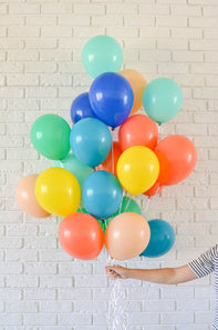 colorful balloon mix - Hip Hip Party Goods