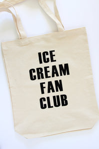 ice cream fan club tote bag - Hip Hip Party Goods