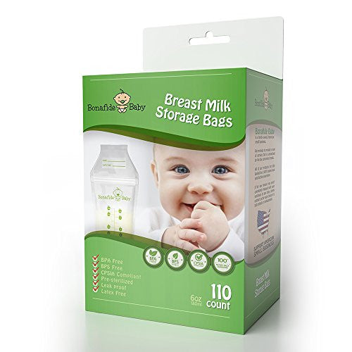 Breastmilk Storage Bags - 110 Bag Count - BPA and BPS-Free - Nontoxic Marker Included