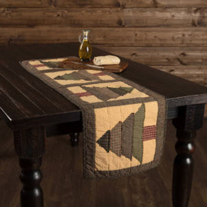 Rustic Christmas Table Linens