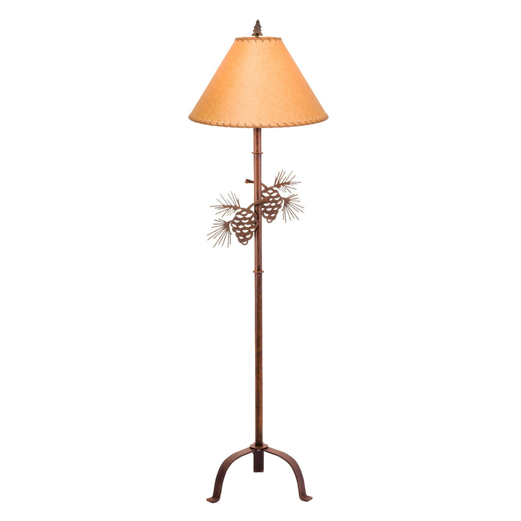 Steel Pinecone Floor Lamp (Available in 5 finishes)
