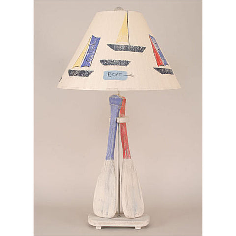 Cabin table lamps nautical table lamps free ship over 74 2 paddle boat table lamp mozeypictures Image collections