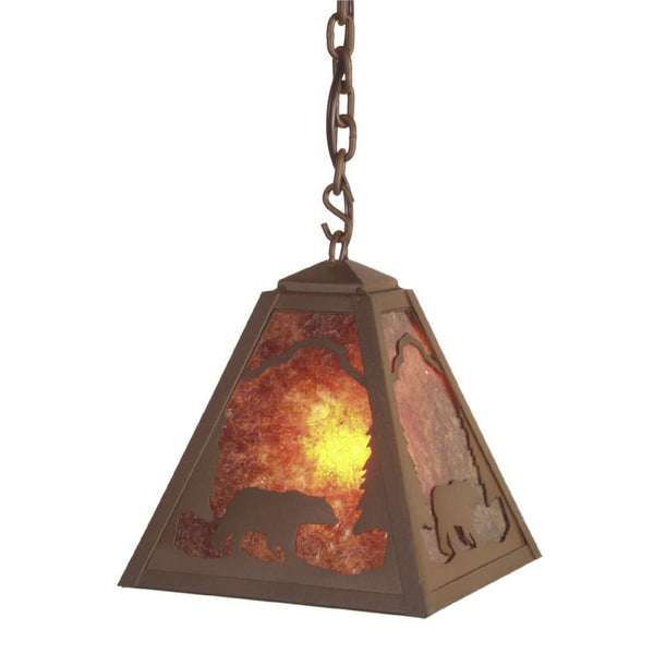 Timber Ridge Bear Pendant Light