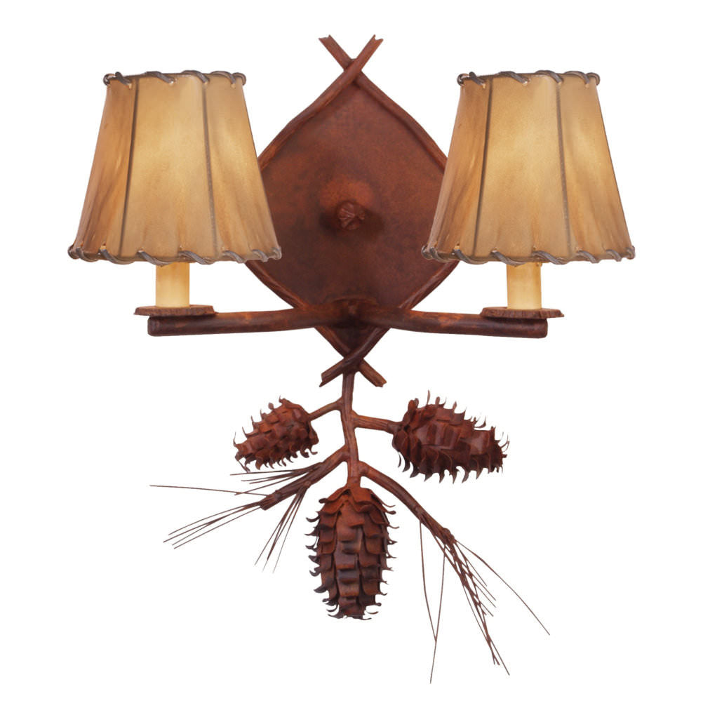 Ponderosa Pine Double Wall Sconce