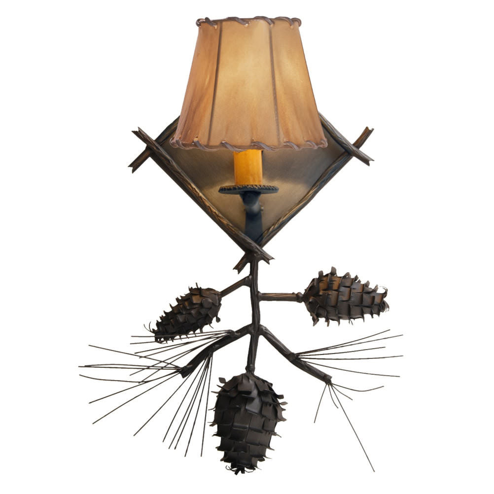 Ponderosa Pine Single Wall Sconce