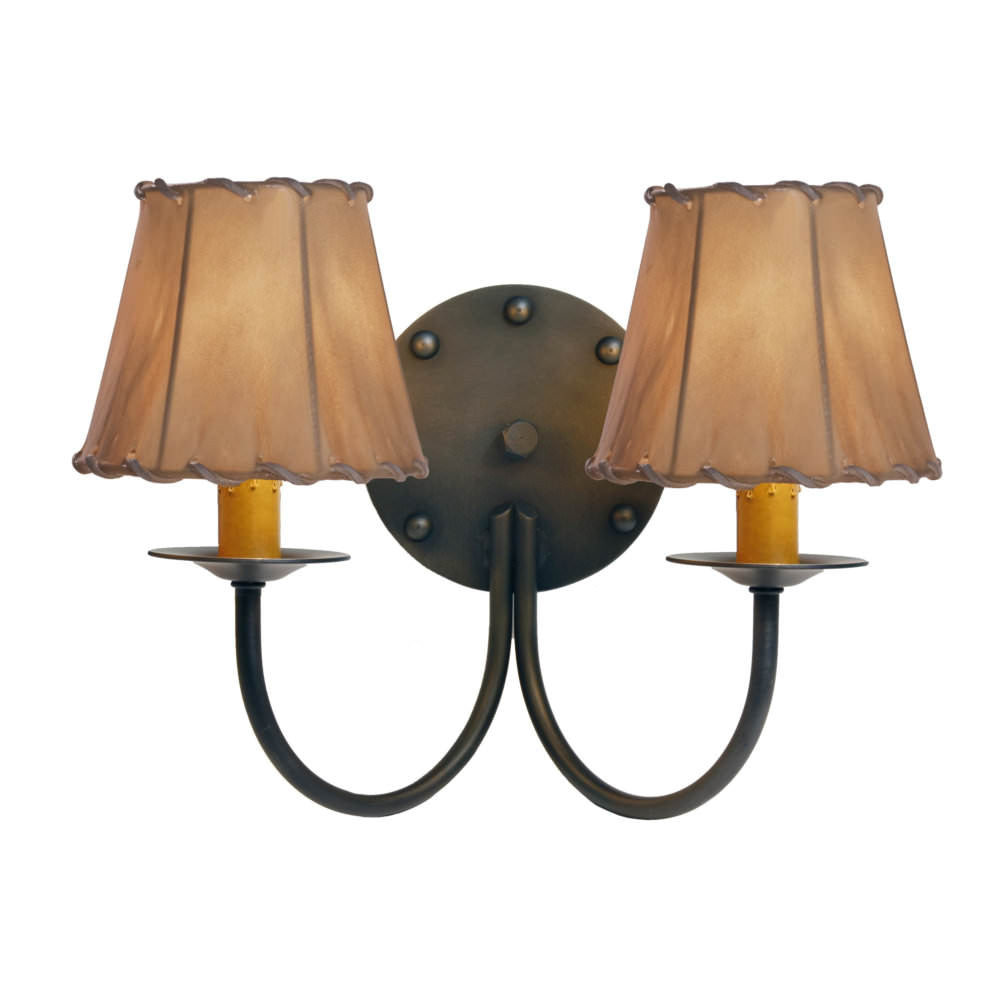 Rivets Double Wall Sconce