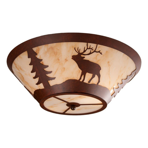 Elk Round Drop Ceiling Mount Light