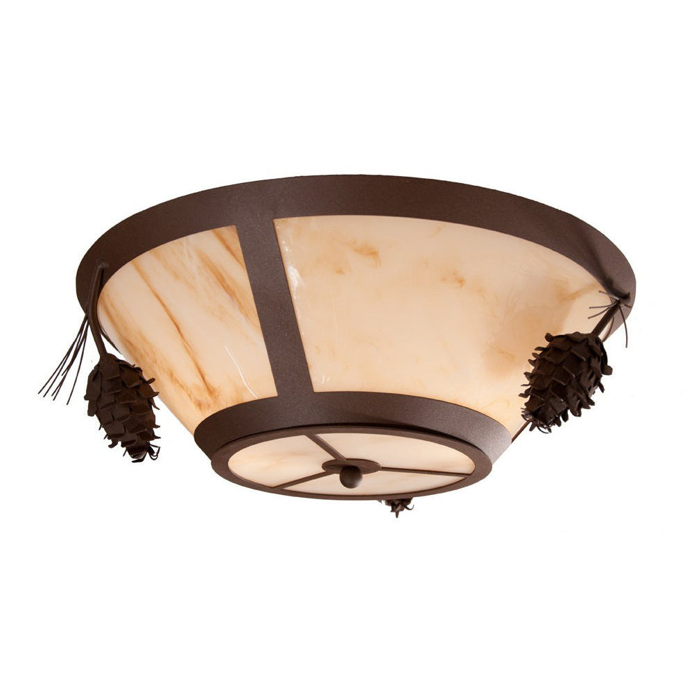 Ponderosa Pine Round Drop Ceiling Mount Light