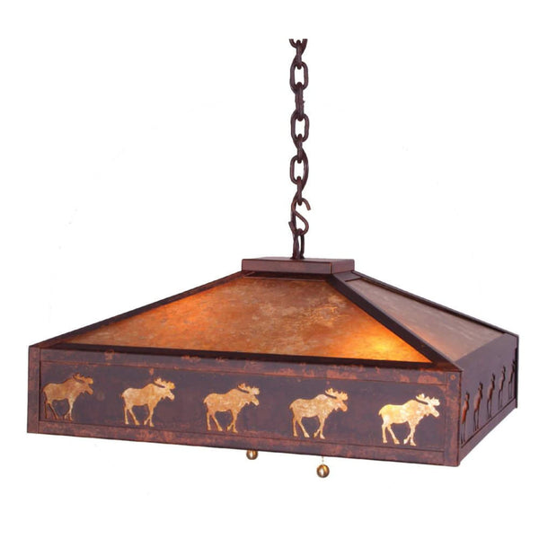Meadow Band of Moose Swag Light