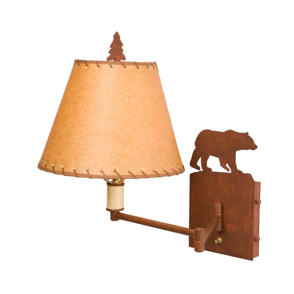 Bear Swing Arm Wall Lamp