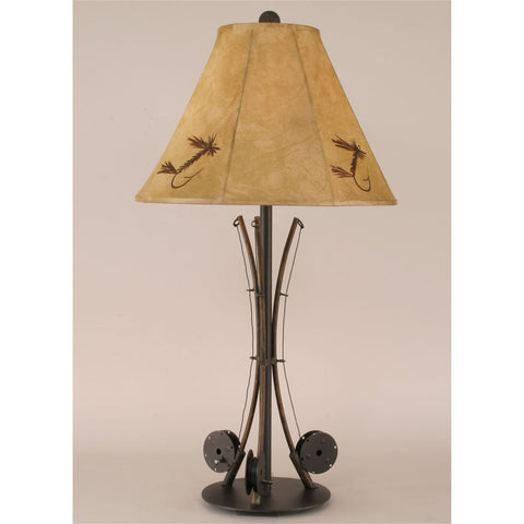 Cabin table lamps nautical table lamps free ship over 74 3 fishing pole table lamp mozeypictures Image collections