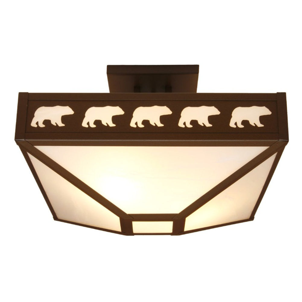 Band of Bears Four Post Drop Ceiling Mount Light