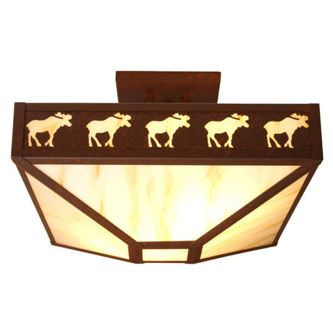Band of Moose Four Post Drop Ceiling Mount Light